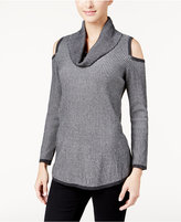 Style&Co. Style & Co. Cowl-Neck Cold-Shoulder Sweater, Only at Macy's