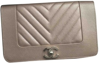 Chanel Wallet on Chain Metallic Leather Clutch bags