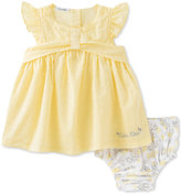 Calvin Klein 2-Pc. Swiss-Dot Tunic & Diaper Cover Set, Baby Girls (0-24 months)