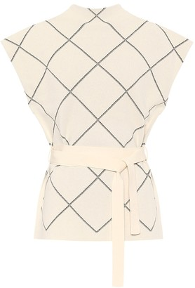Proenza Schouler Checked jacquard top