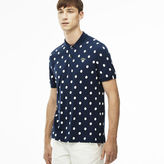 Lacoste Men's L!ve Regular Fit Polka Dot Petit Piqu Polo Shirt