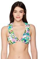Nanette Lepore Women's Cactus Print Heartbreaker Bikini Top
