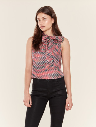 Joie Pascale Tie Neck Silk Top