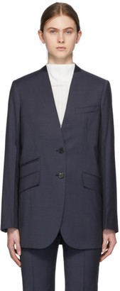 Givenchy Navy Deep V Blazer