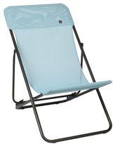 Lafuma Maxi Transat Brown Frame Folding Sling Chair (Set of 2)