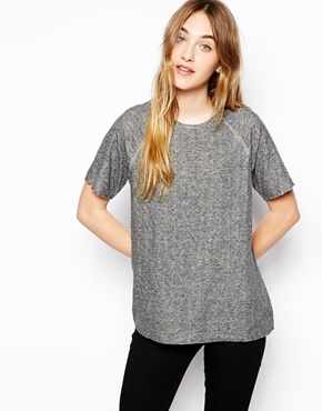 By Zoé Short Sleeved Sweat Top in Double Layered Jersey