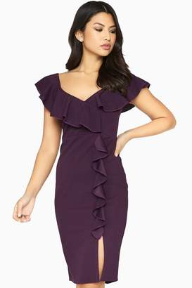 Girls On Film Silhouette Ruffle Dress