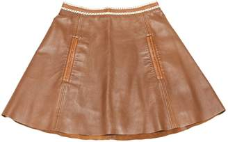 Acne Studios Brown Leather Skirts