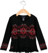 Ralph Lauren Girls' Patterned Crew Neck Top