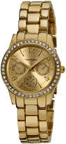 Vernier Gold Rhinestone Bracelet Watch