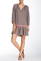 Love Stitch Crochet Trim Tunic Dress