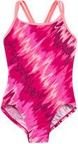 Nike Girls Tie Dye One Piece Swimsuit-Big Kid