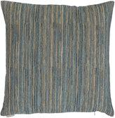 "Horchow Avery Aqua Fine-Stripe Pillow, 22""Sq."