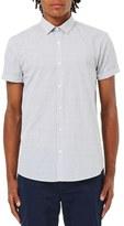 Topman Slim Fit Grid Print Shirt