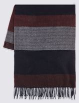 Marks and Spencer Horizontal Striped Scarf