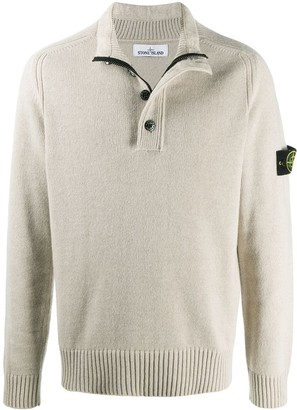 Stone Island Button-Up Knitted Jumper