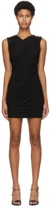 Balmain Black Draped Twisted Dress