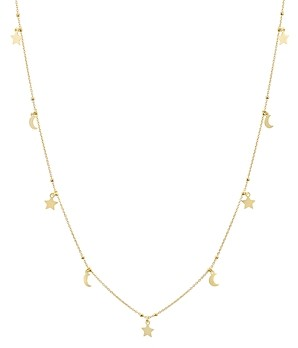 Argentovivo Charm Dangle Necklace in 14K Gold-Plated Sterling Silver or Sterling Silver, 30