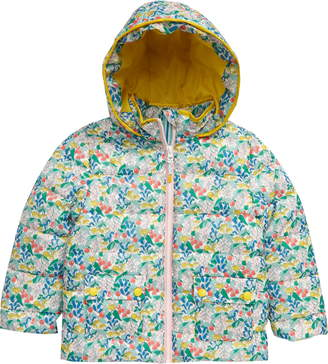Boden Mini  Floral Water Resistant Quilted Puffer Jacket