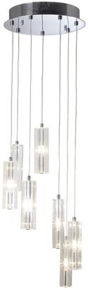 Dar Lighting - Galileo 7 Cluster Pendant Light - Silver