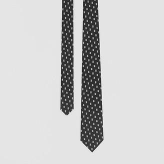 Burberry Classic Cut Monogram Motif Silk Jacquard Tie
