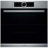 Bosch HBG674BS1B Single Pyrolytic Electric Oven, Brushed Steel