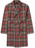 Fear Of God Contrast-tipped Checked Wool Coat - Red