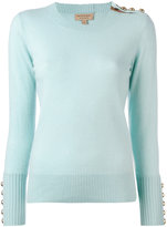 Burberry cashmere buttoned detail jumper - women - Cashmere - S