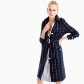J.Crew Petite collection trench coat in windowpane