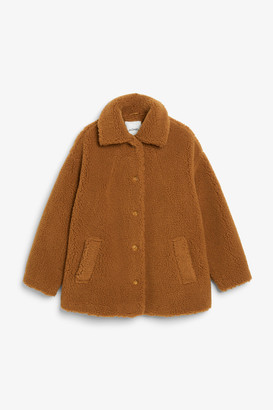 Monki Teddy coat