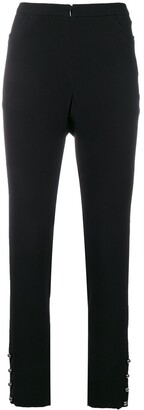 Chanel Pre Owned High Waist Tailored Trousers