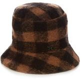 Maison Michel Matthew the Potters check wool hat