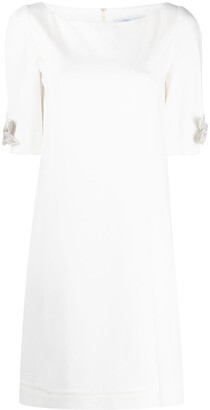 Blumarine Bow-Sleeve Shift Dress