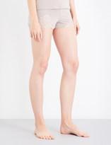 I.D. Sarrieri Lace-trim stretch-jersey shorts
