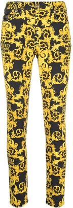 Versace Jeans Couture Baroque-Print Skinny Jeans