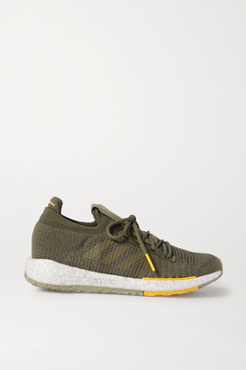 adidas Monocle Pulseboost Hd Stretch-knit Sneakers - Army green