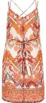 River Island Womens Orange print strappy cami tunic