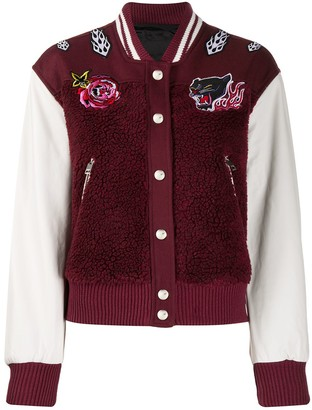 Diesel Embroidered Patch Teddy Bomber Jacket