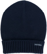 Dolce & Gabbana turn-up ribbed hem beanie - men - Virgin Wool - One Size