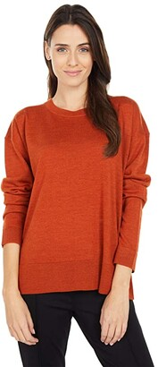 Pendleton Merino Crew Neck (Baked Clay Heather) Women's Clothing