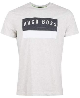 BOSS Tee1 Printed Logo Crew Neck Tshirt Colour: BLUE MELANGE, Size: SM