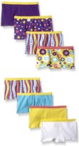 Fruit of the Loom Girls 8Pack Cotton Boy Shorts Panties, 10