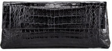 Nancy Gonzalez Crocodile Flap-Front Clutch Bag, Black