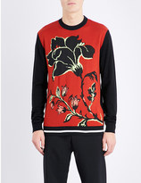 McQ by Alexander McQueen Jacquard floral wool jumper