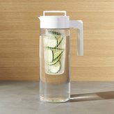 Crate & Barrel Airtight White 66oz Pitcher with Infuser