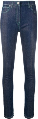 Kenzo Contrasting Stitching Skinny Jeans