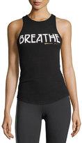 Spiritual Gangster Breathe Ribbed Racerback Tank