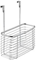 InterDesign Axis Over the Cabinet Kitchen Storage Organizer Basket for Aluminum Foil, Sandwich Bags, Cleaning Supplies - Large, Chrome