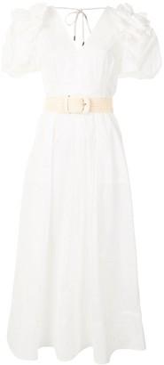 Rebecca Vallance Frill cotton midi dress