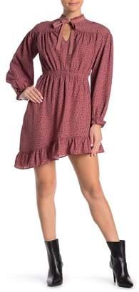 Wild Honey Asymmetrical Ruffle Midi Dress